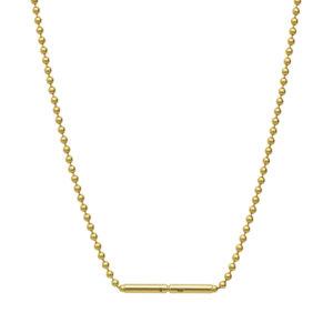 Bead Chain Necklace in 18-Karat Gold