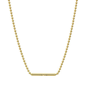 Bead Chain Necklace in 18-Karat Gold