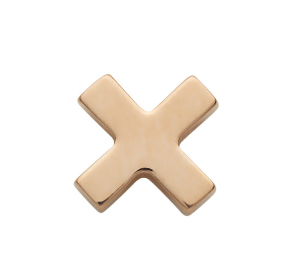 Cross Stud Earring in Rose Gold