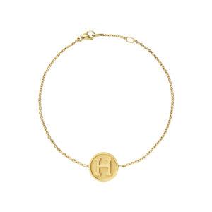 Letter Pendant Bracelet in 18-Karat Gold
