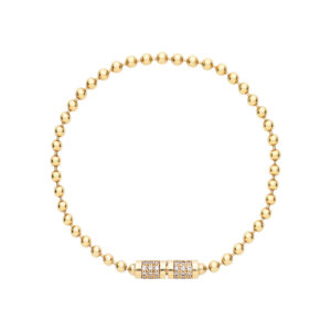 Bead Chain Bracelet with Diamonds