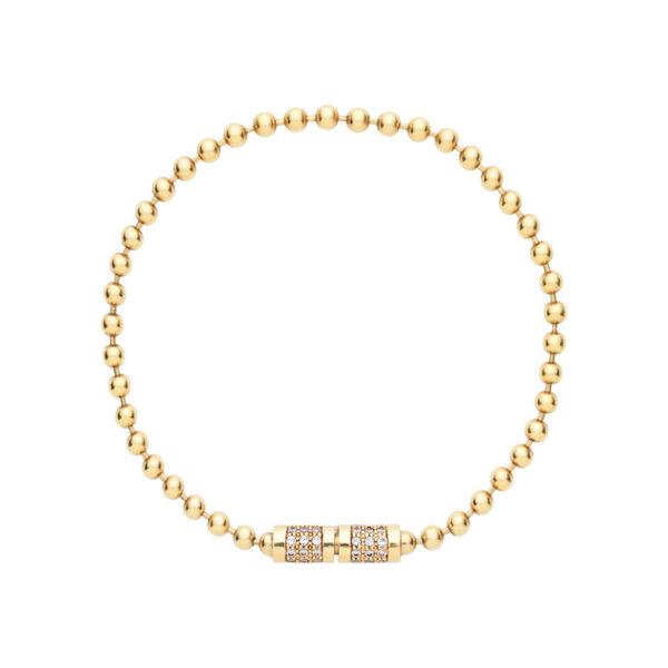 Bead Chain Bracelet with Diamonds
