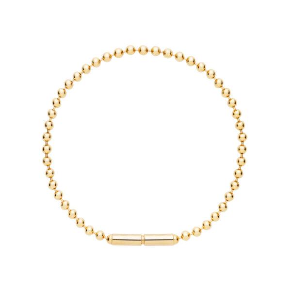 Bead Chain Bracelet in 14-Karat Gold