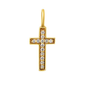 Cross Necklace Pendant with Diamonds