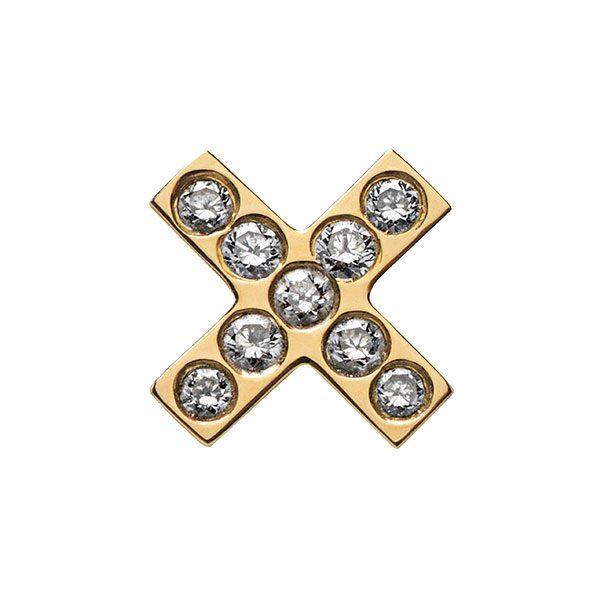 Cross Stud Earring with Diamonds
