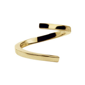Open Twist Ring in 18-Karat Polished Gold