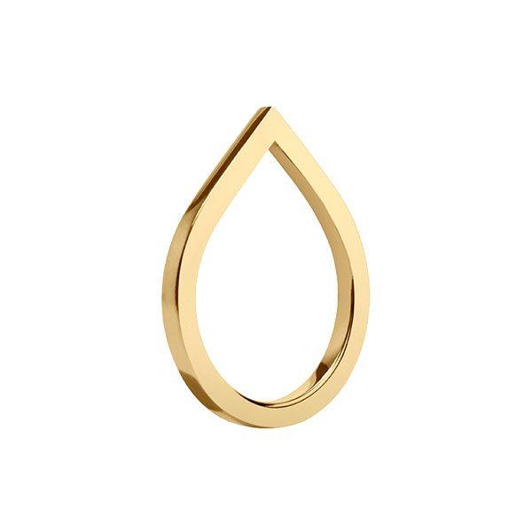 Drop-Shaped Ring in 14-Karat Yellow Gold
