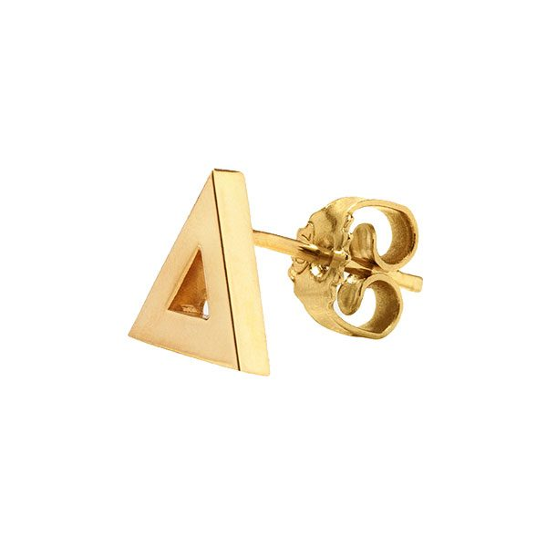 Triangle Stud Earring in 18-Karat Yellow Gold