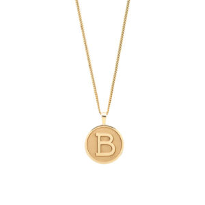 Letter Pendant Necklace in 14-Karat Gold