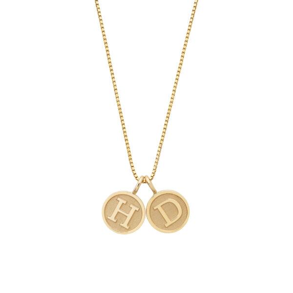 Letter Pendant Necklace in 18-Karat Gold