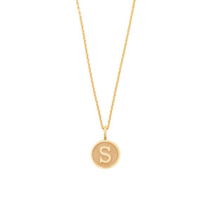 Letter Pendant Necklace in 18-Karat Gold