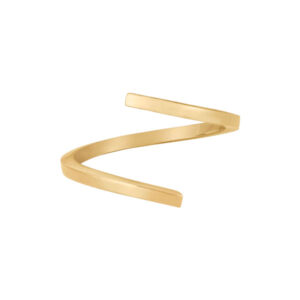 Open Twist Ring in 14-Karat Brushed Gold