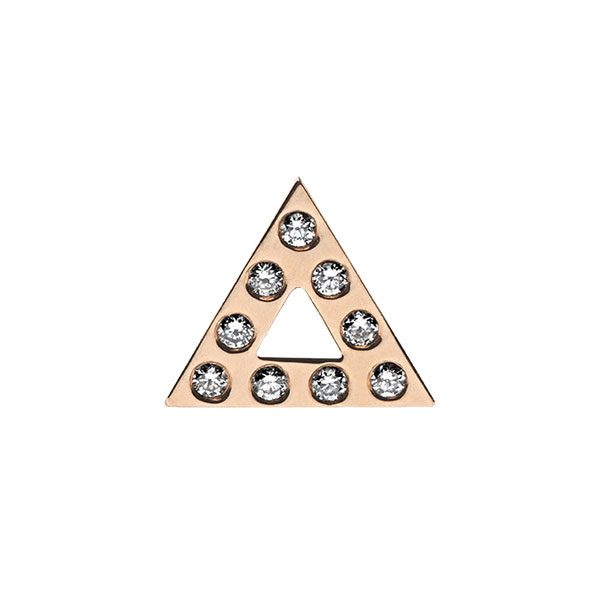 Triangle Stud Earring with Diamonds