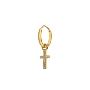 Cross Earring Charm with Diamonds