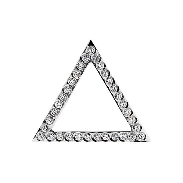 Triangle Pendant with Diamonds