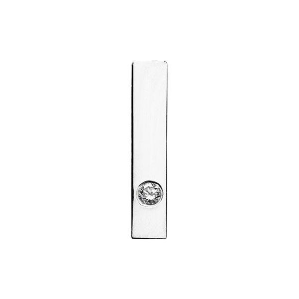 Short Ear Crawler in 18-Karat White Gold