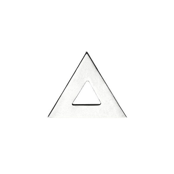 Triangle Stud Earring in 18-Karat White Gold