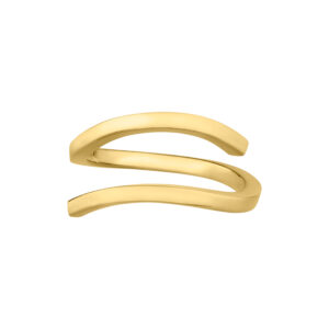 Open Ring in 18-Karat Gold – Wave Collection