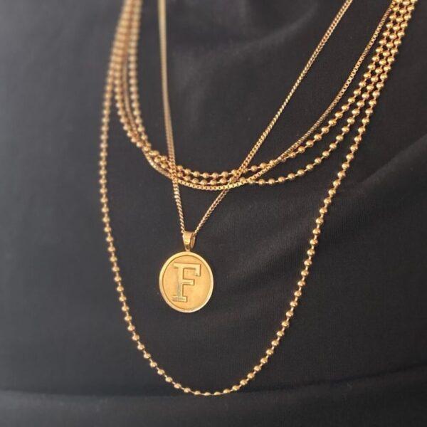 Letter Pendant Necklace in 14-Karat Gold